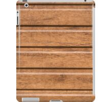 Brown siding that mimics the natural wood iPad Case/Skin