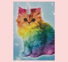 Unicorn Rainbow Cat Kitten One Piece - Long Sleeve