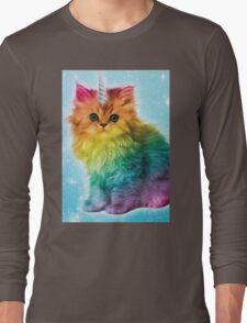 Unicorn Rainbow Cat Kitten Long Sleeve T-Shirt