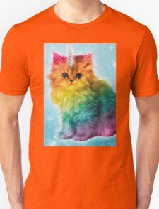 Unicorn Rainbow Cat Kitten Unisex T-Shirt