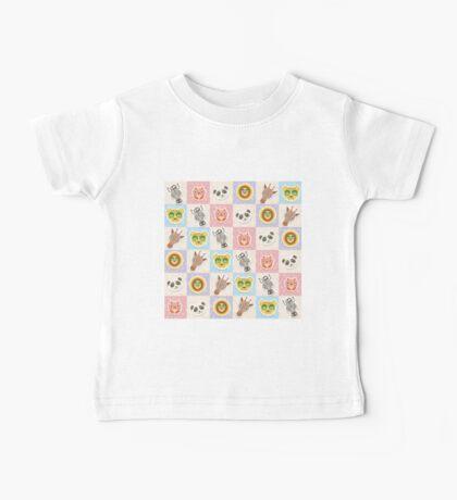 Set of funny animals  Baby Tee