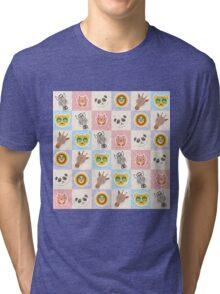 Set of funny animals  Tri-blend T-Shirt