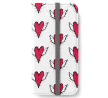 Red heart with wings iPhone Wallet/Case/Skin