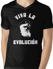 VIVA LA EVOLUCION EVOLUTION Mens V-Neck T-Shirt
