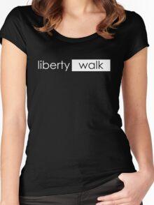 LIBERTY WALK : TEEGUN Women's Fitted Scoop T-Shirt