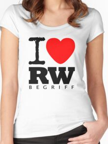 RAUH-WELT BEGRIFF : I LOVE Women's Fitted Scoop T-Shirt