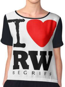 RAUH-WELT BEGRIFF : I LOVE Chiffon Top