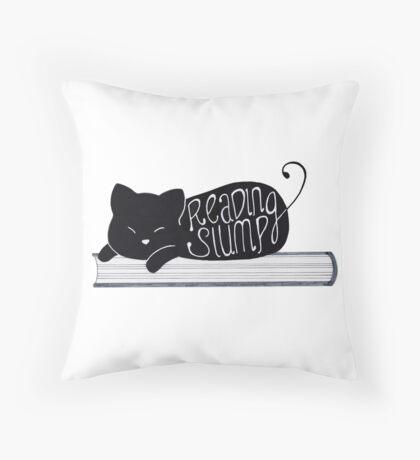 Reading Slump Throw Pillow
