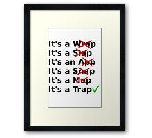 It's a Wrap? No it's a Slap? No Framed Print
