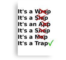 It's a Wrap? No it's a Slap? No Canvas Print