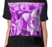 MAUVE DAFFODILS COLLECTION Chiffon Top