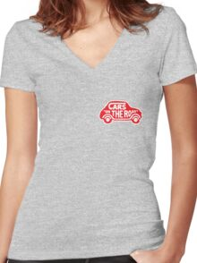 Cars Women's Fitted V-Neck T-Shirt