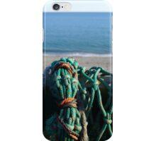 Fishing net at Criccieth, Llyn, North Wales iPhone Case/Skin