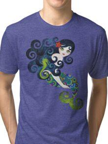 Aquamarine Mermaid Tri-blend T-Shirt