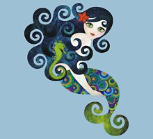 Aquamarine Mermaid Womens Fitted T-Shirt