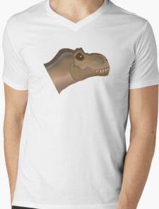 Johnny the T-Rex Mens V-Neck T-Shirt