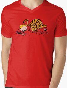Calvin And Hobbes : Get Set, Ready, Go ... Mens V-Neck T-Shirt