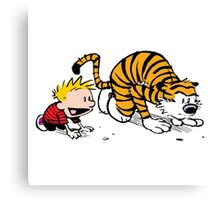 Calvin And Hobbes : Get Set, Ready, Go ... Canvas Print