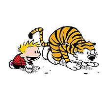 Calvin And Hobbes : Get Set, Ready, Go ... Photographic Print