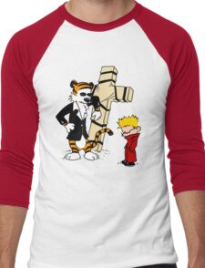 Calvin And Hobbes : Detective Men's Baseball ¾ T-Shirt