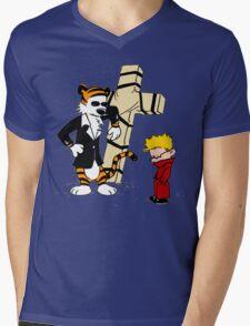 Calvin And Hobbes : Detective Mens V-Neck T-Shirt