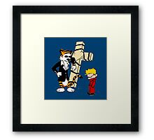 Calvin And Hobbes : Detective Framed Print