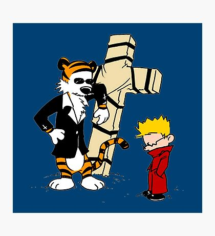 Calvin And Hobbes : Detective Photographic Print