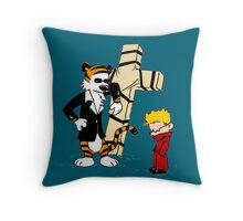 Calvin And Hobbes : Detective Throw Pillow