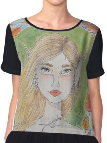 By water, wood and willow Chiffon Top