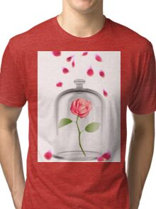 Rose in glass jar Tri-blend T-Shirt