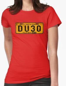 DUTERTE plate number (rustic) Womens Fitted T-Shirt