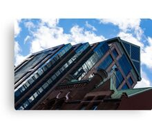 Color Matching Old and New - Downtown Toronto Juxtaposition Right Canvas Print