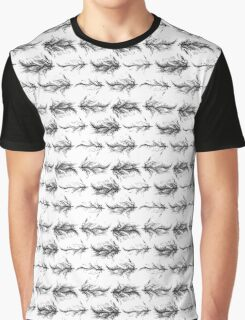 Black feathers pattern Graphic T-Shirt