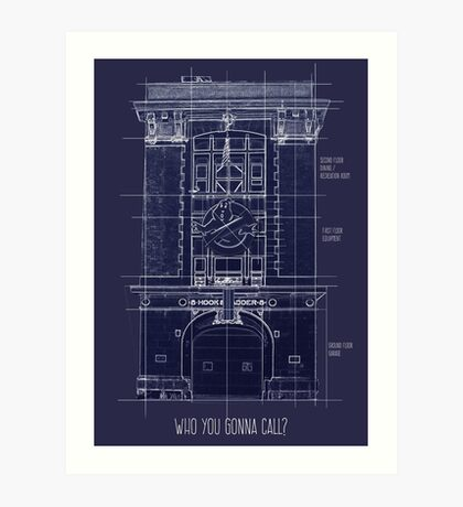Ghostbusters HQ Art Print