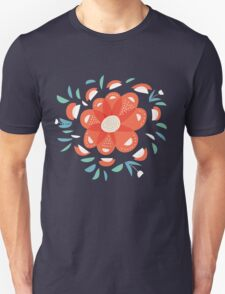 Whimsical Decorative Red Flower Unisex T-Shirt