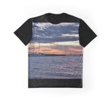 Cloudy sunset yachts Graphic T-Shirt
