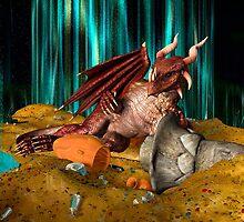 3D Illustration Dragon Treasure by Vac1