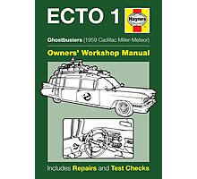 Haynes Manual - Ghosterbusters Ecto 1 - Poster and stickers Photographic Print