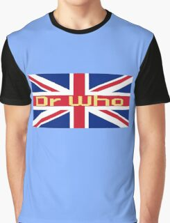 Union Jack Flag - Doctor Who Homage - England Sticker Graphic T-Shirt