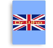 Union Jack Flag - Doctor Who Homage - England Sticker Canvas Print