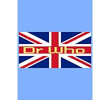 Union Jack Flag - Doctor Who Homage - England Sticker Photographic Print