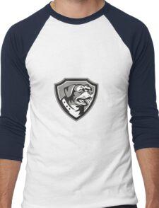 Rottweiler Guard Dog Shield Black and White Men's Baseball ¾ T-Shirt