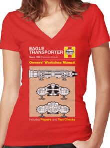 Haynes Manual - Space 1999 Eagle - T-shirt Women's Fitted V-Neck T-Shirt