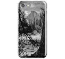 Half Dome in black and white iPhone Case/Skin