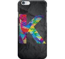 Fun Letter - K iPhone Case/Skin