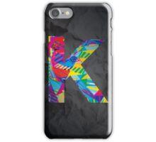 Fun Letter - K iPhone Case/Skin