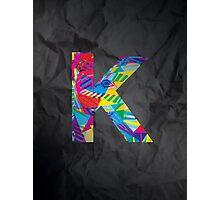 Fun Letter - K Photographic Print