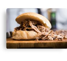 Pulled pork in a bun  Canvas Print