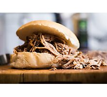 Pulled pork in a bun  Photographic Print