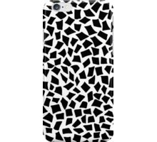 monochrome tetragon pattern drawn by pen iPhone Case/Skin